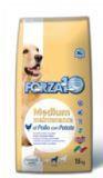 Forza10 Medium Maintenance pol/pat Корм для взрослых собак средних пород из курицы с картофелем, 15кг