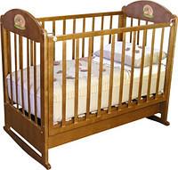 """Детская кроватка """"Анюта"""" Можга (бук,орех)"""