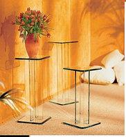 Полки, этажерки, стенки из прочного (каленного) стекла