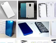 Чехлы для телефонов под сублимацию, 2D/3D , белые, черные, серебро, золото. Формы для пресса 3D