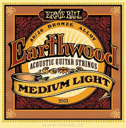 Струны для акустических гитар Ernie Ball Earthwood