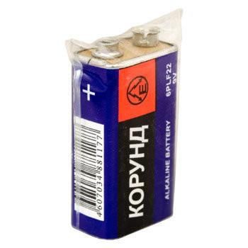 Батарейка КОРУНД 9V 6F22(крона)