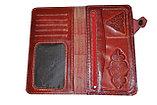 Портмоне из натуральной кожи с тиснением казахского национального орнамента , фото 3
