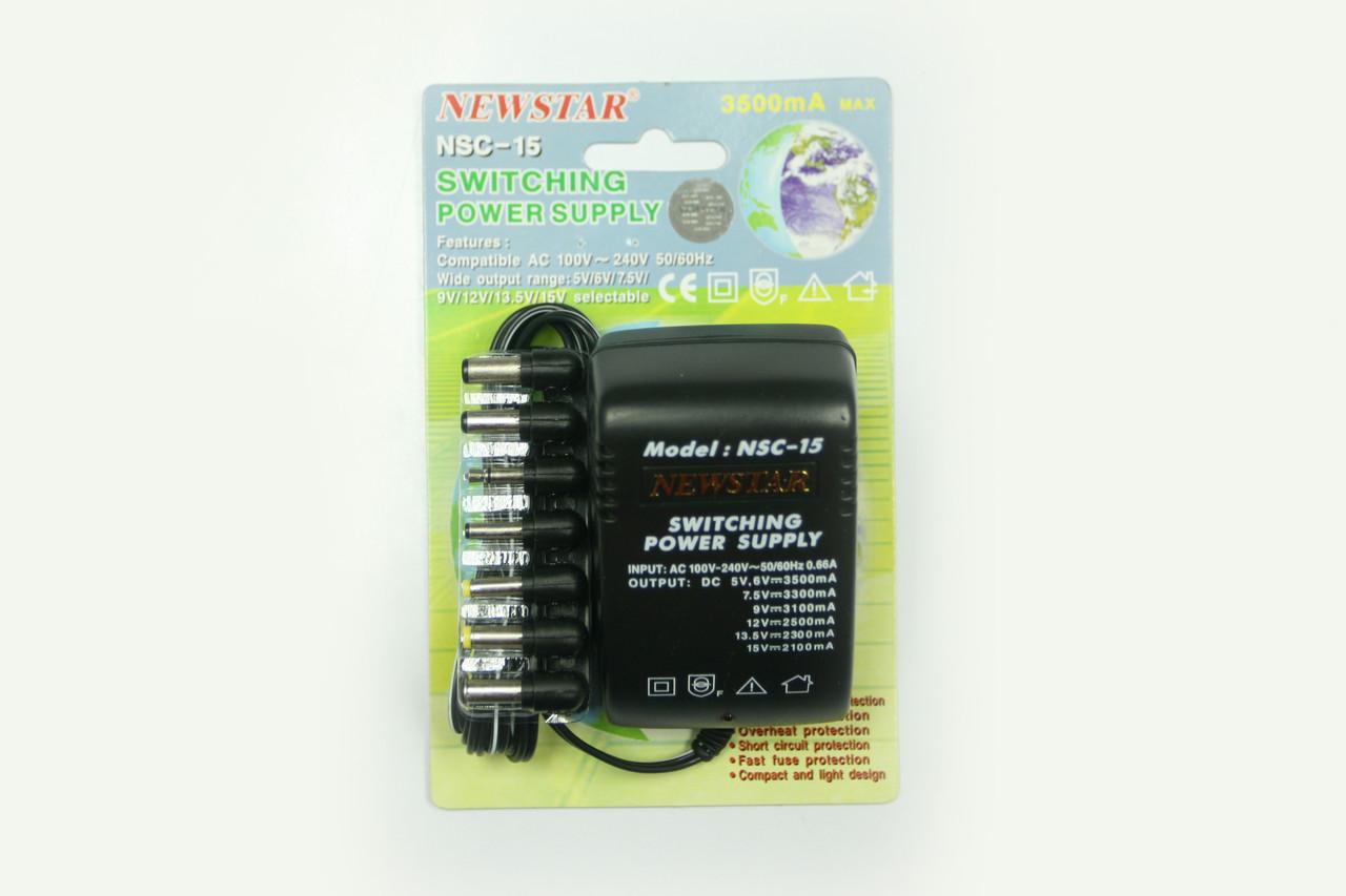 Блок питания Newstar NSC-15 5-6-7,5-9-13,5-15V   3,5A