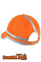 Оранжевая бейсболка со светоотражающими элементами, фото 1