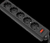 Defender 99481 Сетевой фильтр ES 1.8 m Black 5 розеток, черный