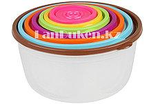 Набор из 7 контейнеров круглых для хранения еды (емкость для хранения продуктов)