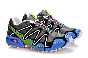 Кроссовки Salomon Speedcross серо-синие, фото 2