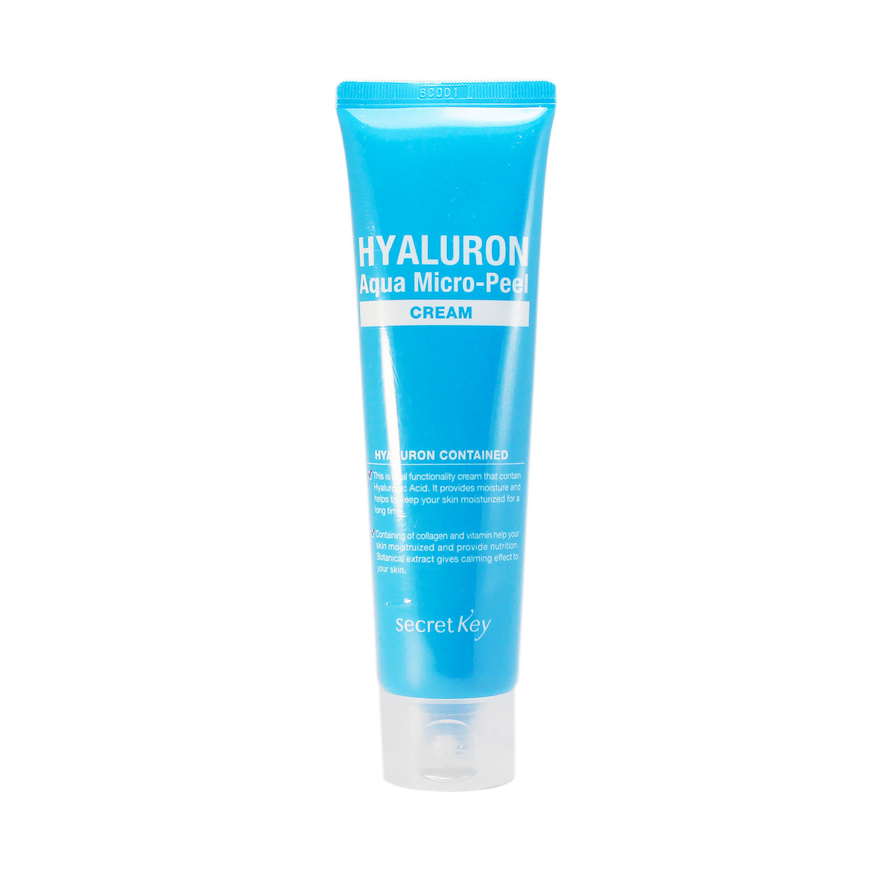 Secret Key Увлажняющий Гиалуроновый Крем для лица Hyaluron Aqua Micro Peel Cream  70гр.
