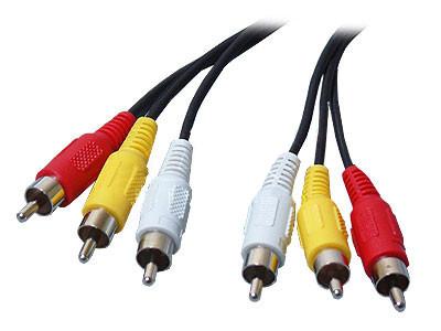 3rca-3rca 10 метров - кабель, провод, шнур - композитный AV тюльпан