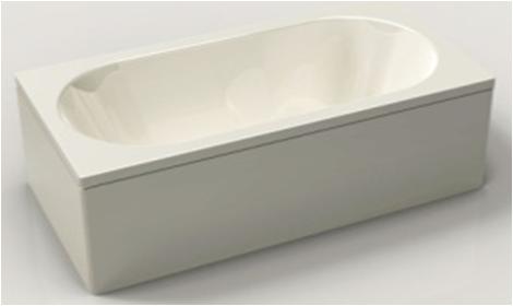 Ванна  акриловая BRAVAT B25505W-5, 150 см на 75 см.