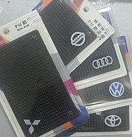 Противоскользящий силиконовый коврик коврики с марками машин. Алматы, фото 1