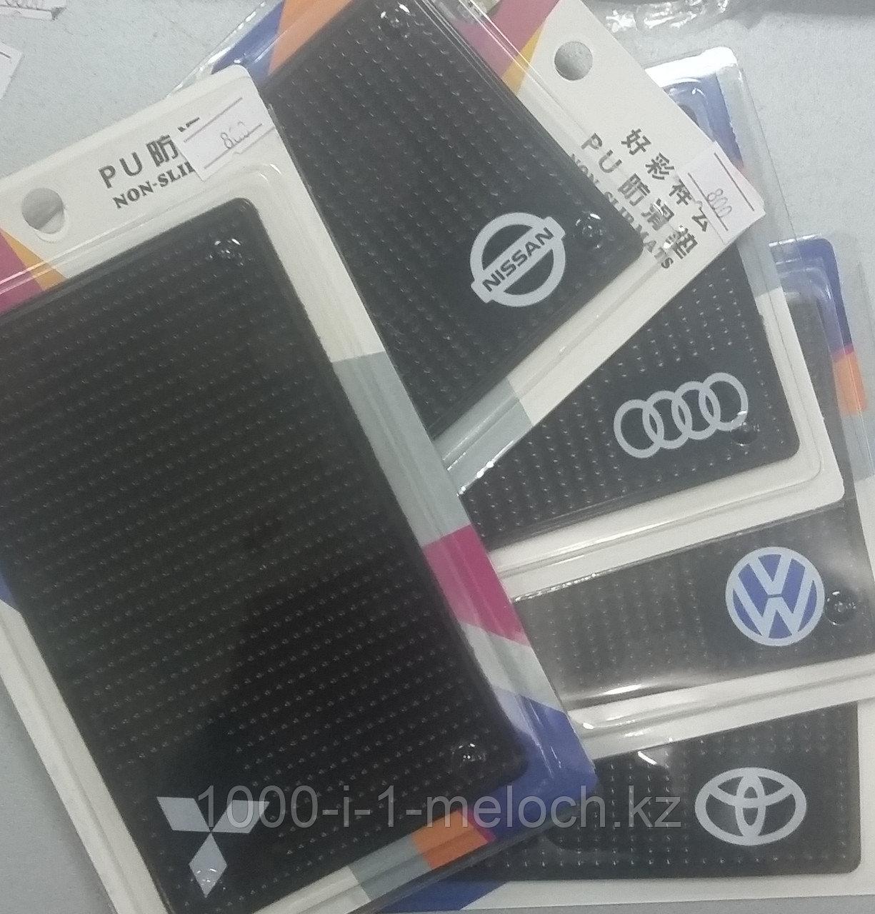 Противоскользящий силиконовый коврик коврики с марками машин. Алматы - фото 1
