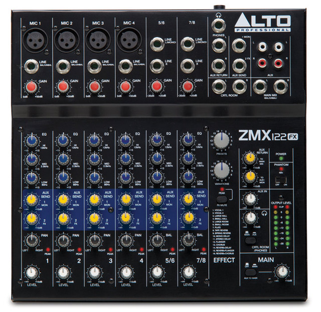 Пассивный микшерный пульт Alto ZMX122FX