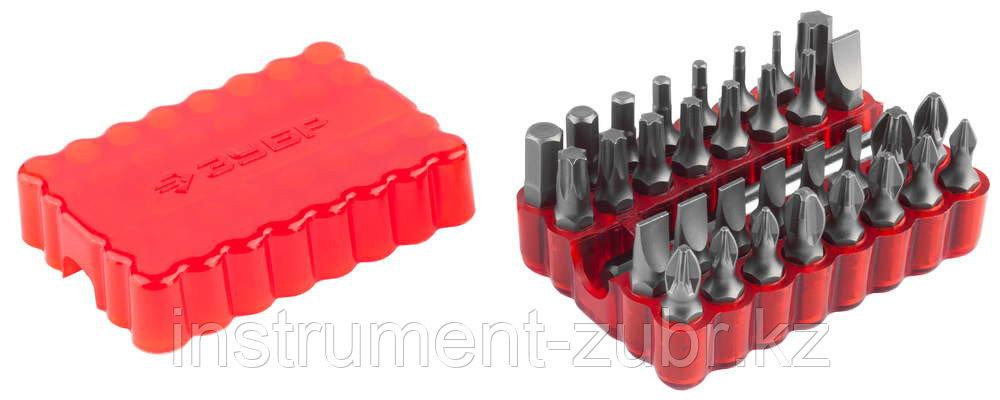 Набор: Биты с магнитным адаптером, хромованадиевая сталь, 33 предмета, ЗУБР