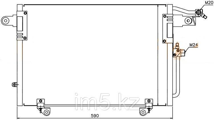Радиатор кондиционера AUDI 100 90-97