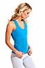 Майка для похудения «BODY SHAPER», (голубой), размер S-XXXXL