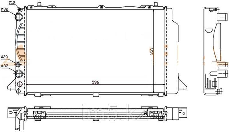 Радиатор AUDI 80 86-96 (автомат)