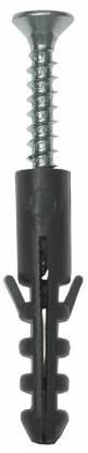 """Дюбель распорный полипропиленовый, тип """"ЕВРО"""", в комплекте с шурупом, 12 х 60 / 6,0 х 80 мм, 4 шт, ЗУБР"""