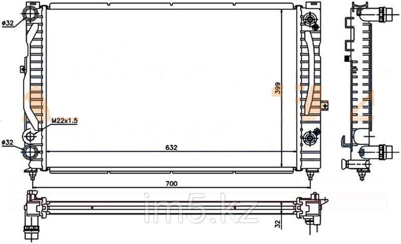 Радиатор AUDI A4/S4 99-01