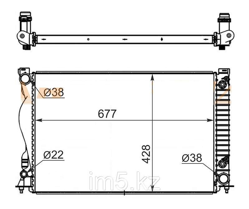 Радиатор AUDI A6 / S6 2.4 / 2.8 / 3.0 / 3.0T / 3.2 04-