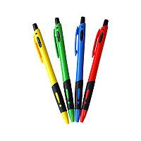 """Ручка шариковая автоматическая """"OfficeSpace"""", синяя, 0,7мм, грип, цветной корпус"""
