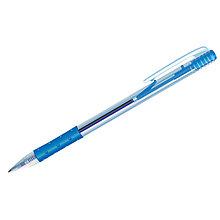 """Ручка шариковая автоматическая """"OfficeSpace"""", синяя, 1мм, грип, прозрачный корпус"""