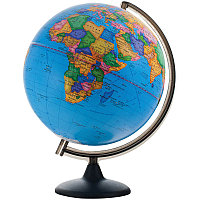 Глобус политический рельефный 32см на круглой подставке