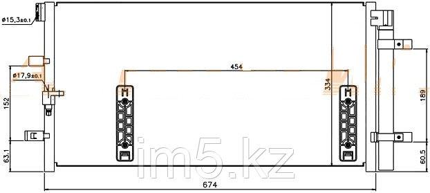 Радиатор кондиционера AUDI A7 10-