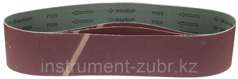 "Лента ЗУБР ""МАСТЕР"" шлифовальная универсальная бесконечная для ЗШС-500, основа-х/б ткань, 100х914мм, Р320, 3шт"