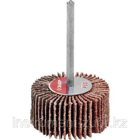 """Круг шлифовальный ЗУБР """"МАСТЕР"""" веерный лепестковый, на шпильке, тип КЛО, зерно-электрокорунд, P60, 15х30мм, фото 2"""