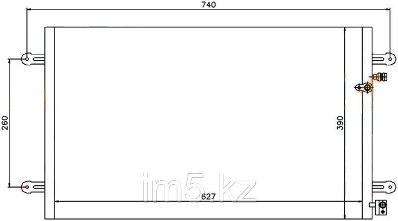 Радиатор кондиционера AUDI A6 05-11