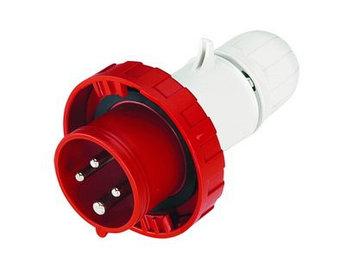 Вилка кабельная с безвинтовыми клеммами IP67 32A 3P+E 400В