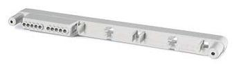 Фиксатор на 3 клеммных блока с установленным 1 клеммным блоком. Для корпусов типа M550 на 16 модулей или M400 на 16 моду