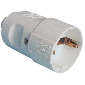 Розетка кабельная, бытовая с центральным вводом кабеля. Черная. IP20 16А 2P+E 230В
