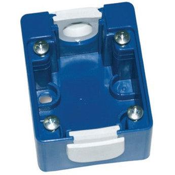 Коробка монтажная для розетки встраиваемой. Голубая. IP44