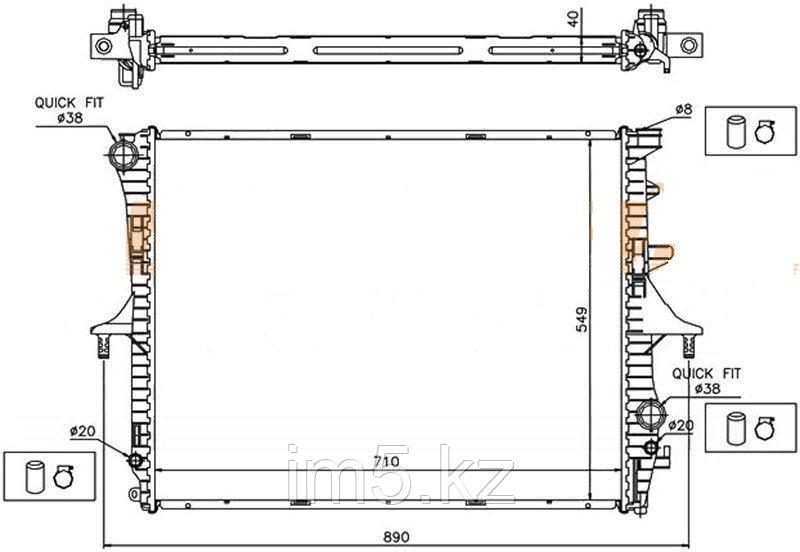 Радиатор VW TOUAREG 03-10