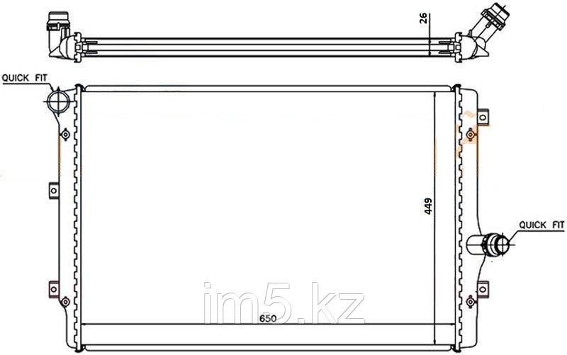 Радиатор AUDI TT 06-14