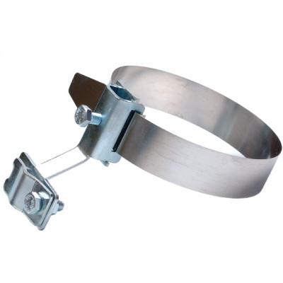 Хомут на металл. трубы, D80-160 мм