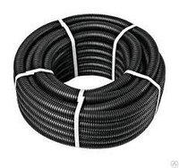 Труба гофрированная ПНД легкая с протяжкой (черная) 50 м