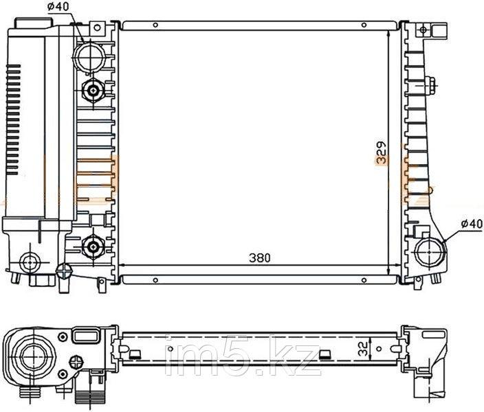 Радиатор BMW 3-SERIES E30 82-90