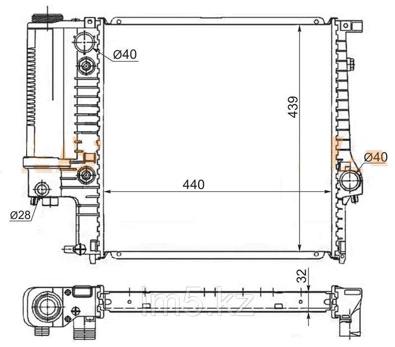 Радиатор BMW 3-SERIES E36 90-00