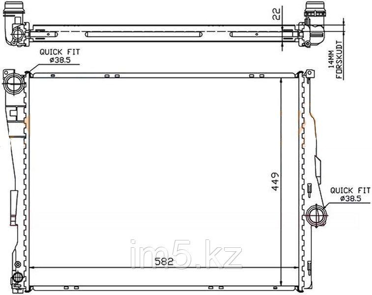 Радиатор BMW 3-SERIES E46 98-05