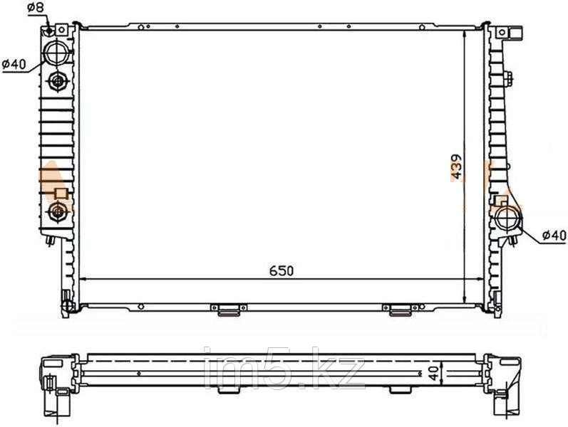 Радиатор BMW 5-SERIES E34 88-95