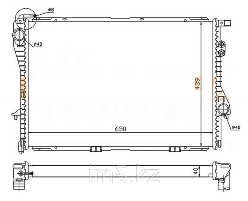 Радиатор BMW 5-SERIES E39 95-03