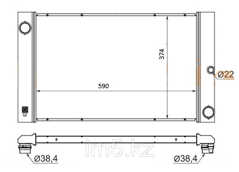 Радиатор BMW 5-SERIES E60 03-09 (дизель)