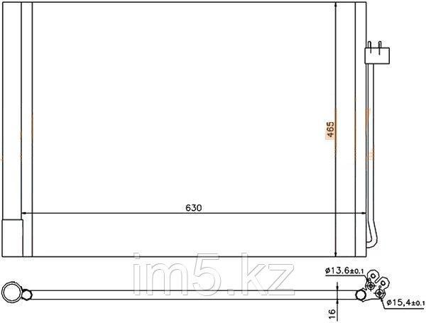 Радиатор кондиционера BMW X5 E70 07-14