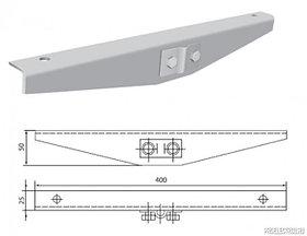 Шарнирный соединитель НЛ - СШ поворот лотков в вертикальной плоскости до 90 град в комплекте с метиз
