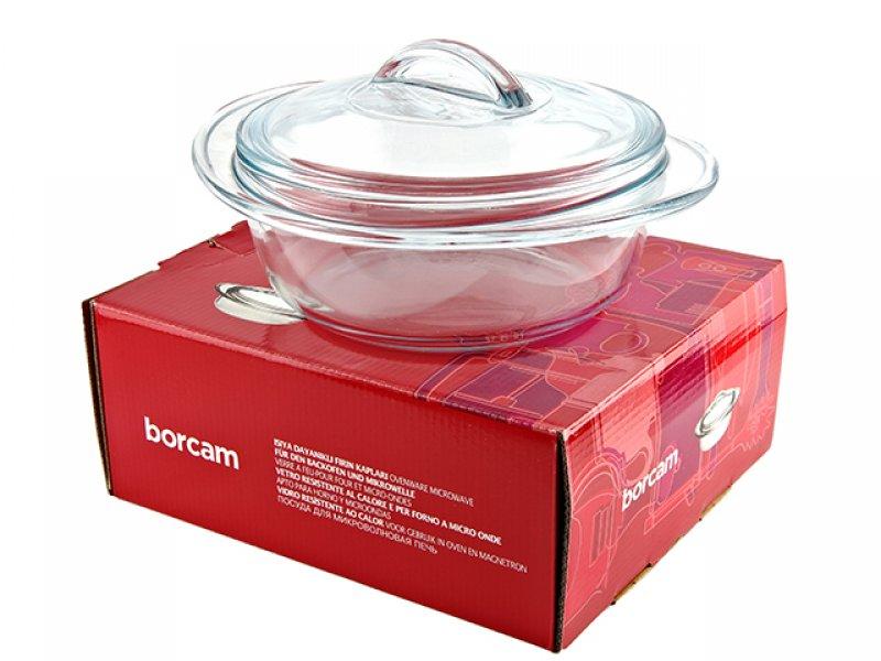 Кастрюля Borcam 1,5л с ручкой на крышке 59433