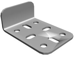 Держатель НЛ - Д для установки нагревостойких перегородок в комплекте с метизами